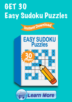 Premium Easy Sudoku Puzzles Package - Get 30 More Easy Sudoku Puzzles