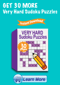 Premium Very Hard Sudoku Puzzles Package - Get 30 More Very Hard Sudoku Puzzles