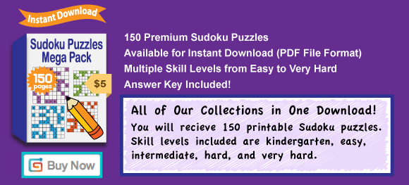 picture relating to Mega Sudoku Printable referred to as Buy 150 Sudoku Puzzles inside A person Quick Obtain